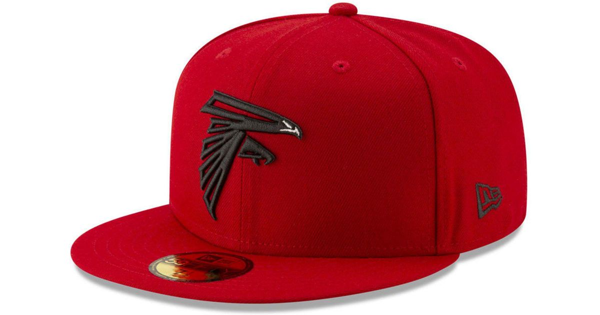 c50fa5e7 KTZ Red Atlanta Falcons Logo Elements Collection 59fifty Fitted Cap