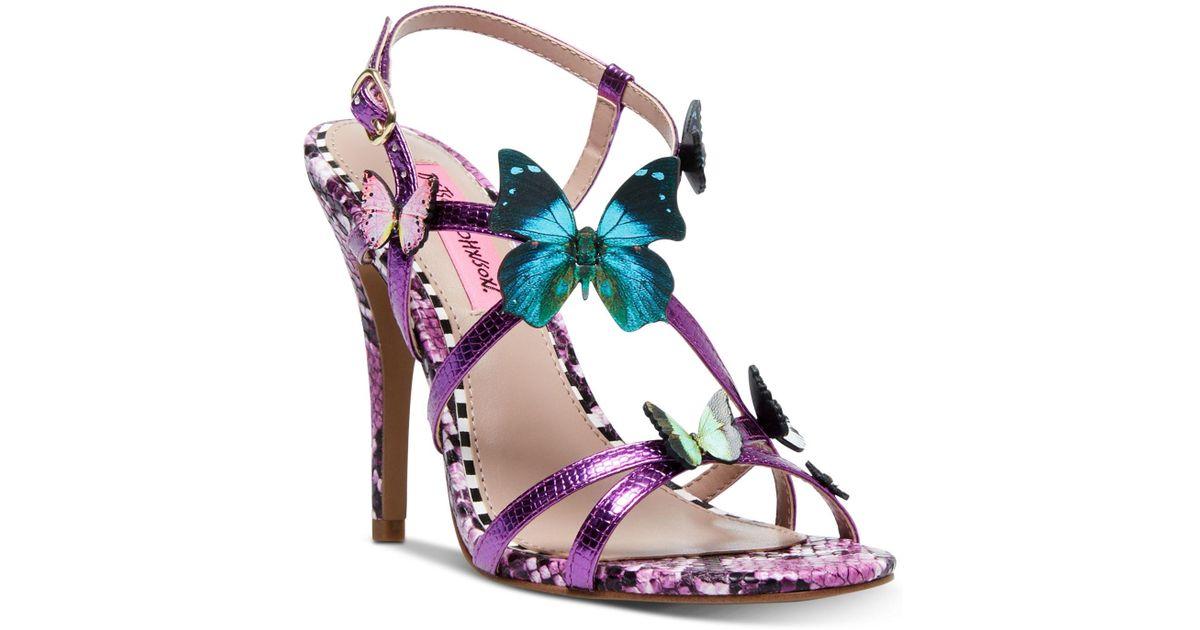 Strappy Betsey Johnson Multicolor Butterfly Stiletto Sandals Vandi vN80wOmn