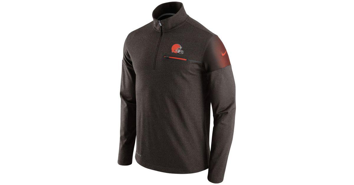 fd9219b4 Nike Men's Cleveland Browns Elite Coaches Quarter-zip Pullover for men