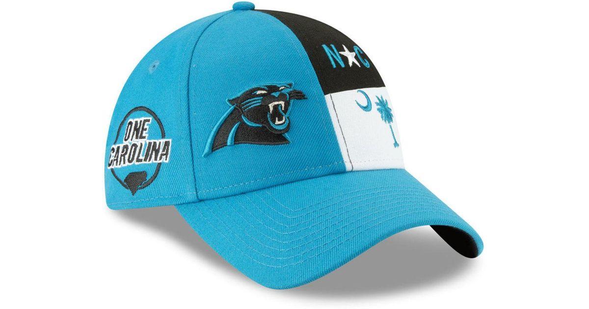 new concept a6dda ae770 Lyst - KTZ Carolina Panthers Draft 9twenty Strapback Cap in Blue
