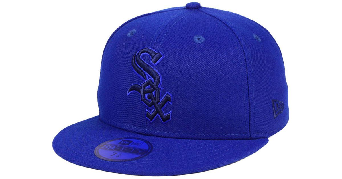 low priced befe0 cc5af ... shopping lyst ktz chicago white sox prism color pack 59fifty cap in  blue for men 269e2