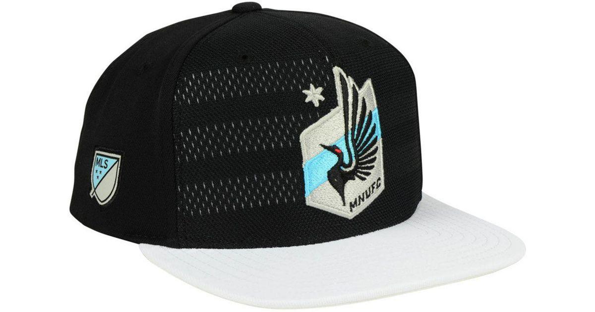 new product b8534 b040d Lyst - adidas Minnesota United Fc Authentic Snapback Cap in Black for Men