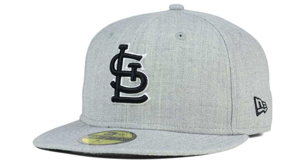 separation shoes 5f3d1 76084 Lyst - KTZ St. Louis Cardinals Heather Black White 59fifty Cap in Gray for  Men