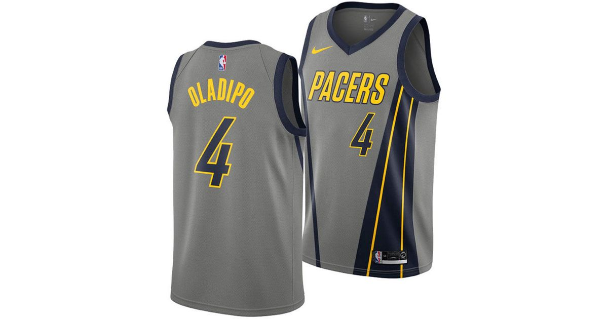separation shoes 0e11b b68cf Nike Gray Victor Oladipo Indiana Pacers City Swingman Jersey 2018 for men