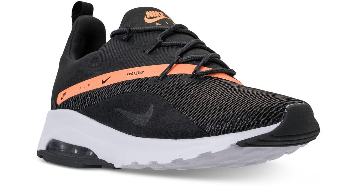 low priced 151ed c092b Nike Air Max Motion Racer 2 Running Sneakers From Finish Line in Black -  Lyst