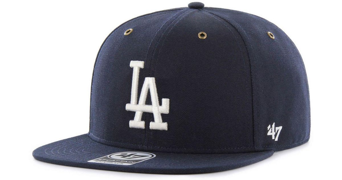 e9313460 47 Brand Blue Los Angeles Dodgers Carhartt Captain Cap for men