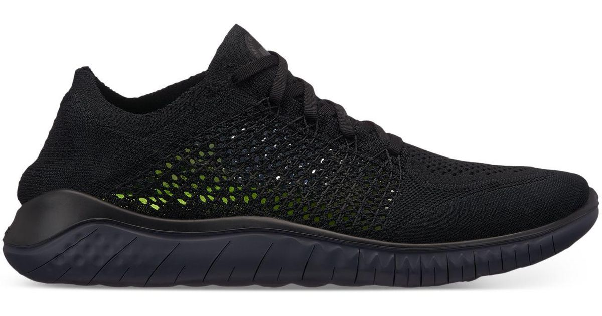 a54fd2600af Lyst - Nike Free Run Flyknit 2018 Running Sneakers From Finish Line in Black  for Men - Save 25%