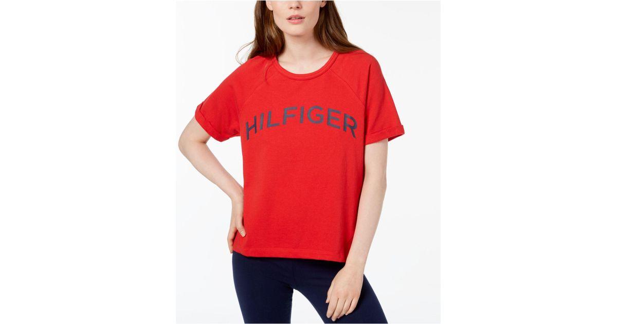 9e465a5dddc103 tommy-hilfiger-Scarlet-Sport-Logo-High-low-T-shirt-Created-For-Macys.jpeg