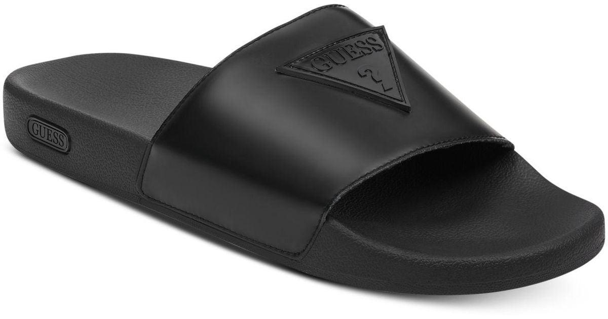 Isle Men Guess For Sandals Black Slide xhdQrCts