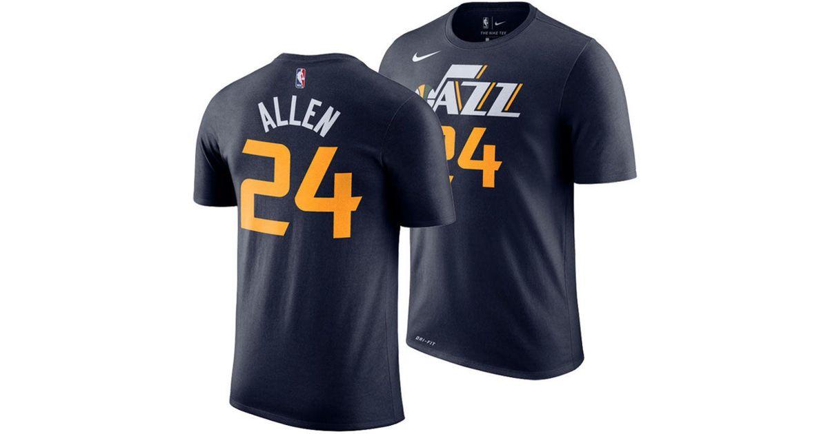 the best attitude a51e9 68e09 Nike Blue Grayson Allen Utah Jazz Icon Player T-shirt for men