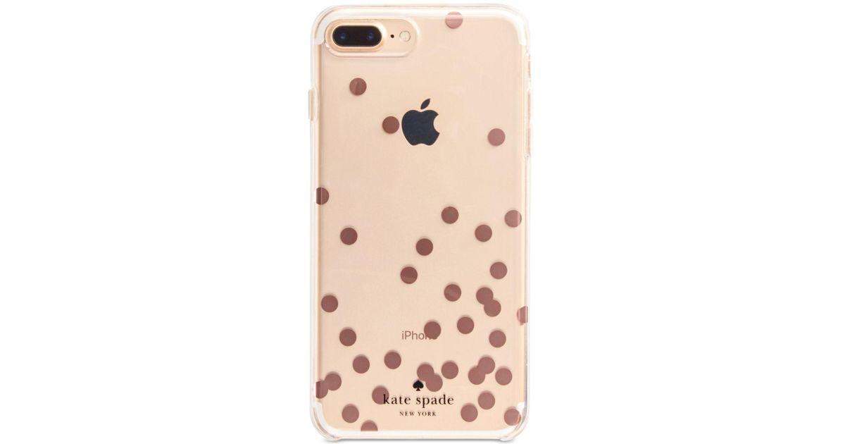 size 40 086b8 03e8d Kate Spade Multicolor Rose-gold-tone Confetti Iphone 8 Plus Case