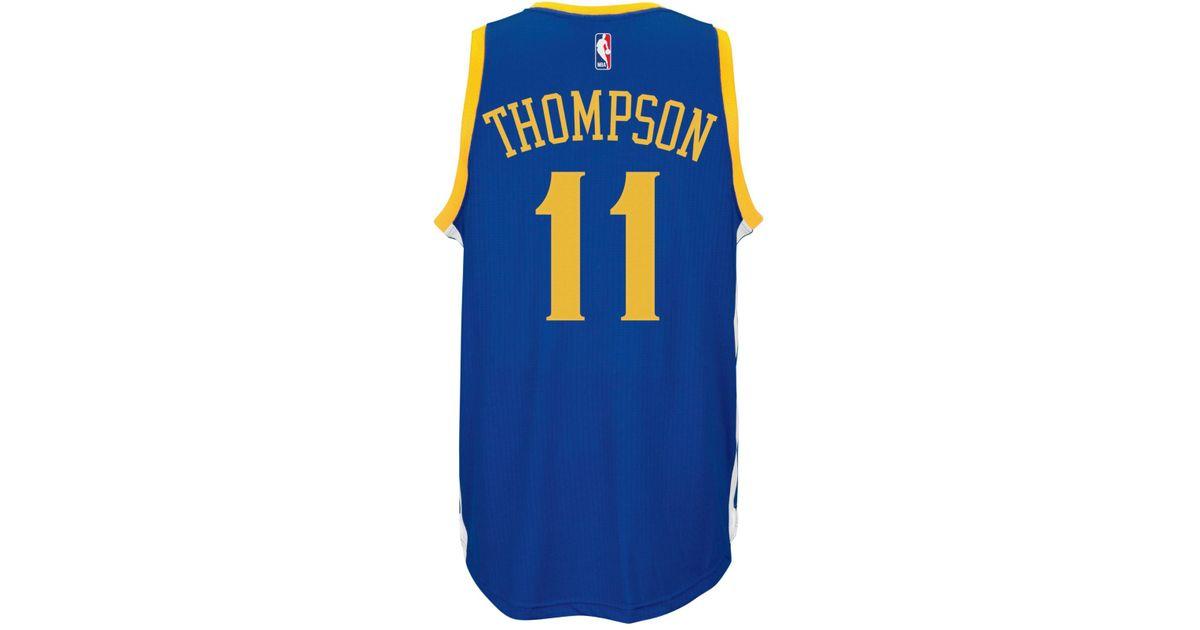 detailed look 402b0 b1bb4 Adidas Originals - Blue Men's Klay Thompson Golden State Warriors Swingman  Jersey - Lyst