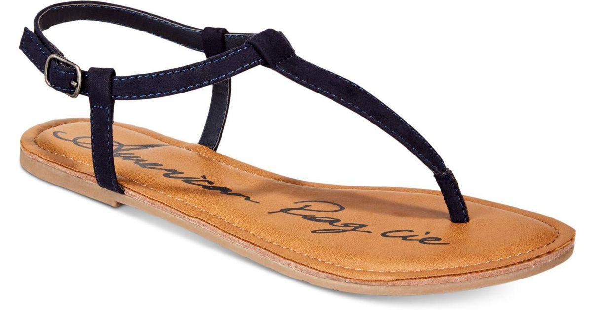 97730dccccb0a Lyst - American Rag Krista T-strap Flat Sandals in Blue