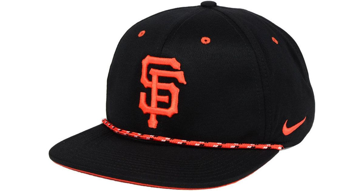 wide varieties reliable quality new york Nike Synthetic San Francisco Giants String Bill Snapback Cap in ...