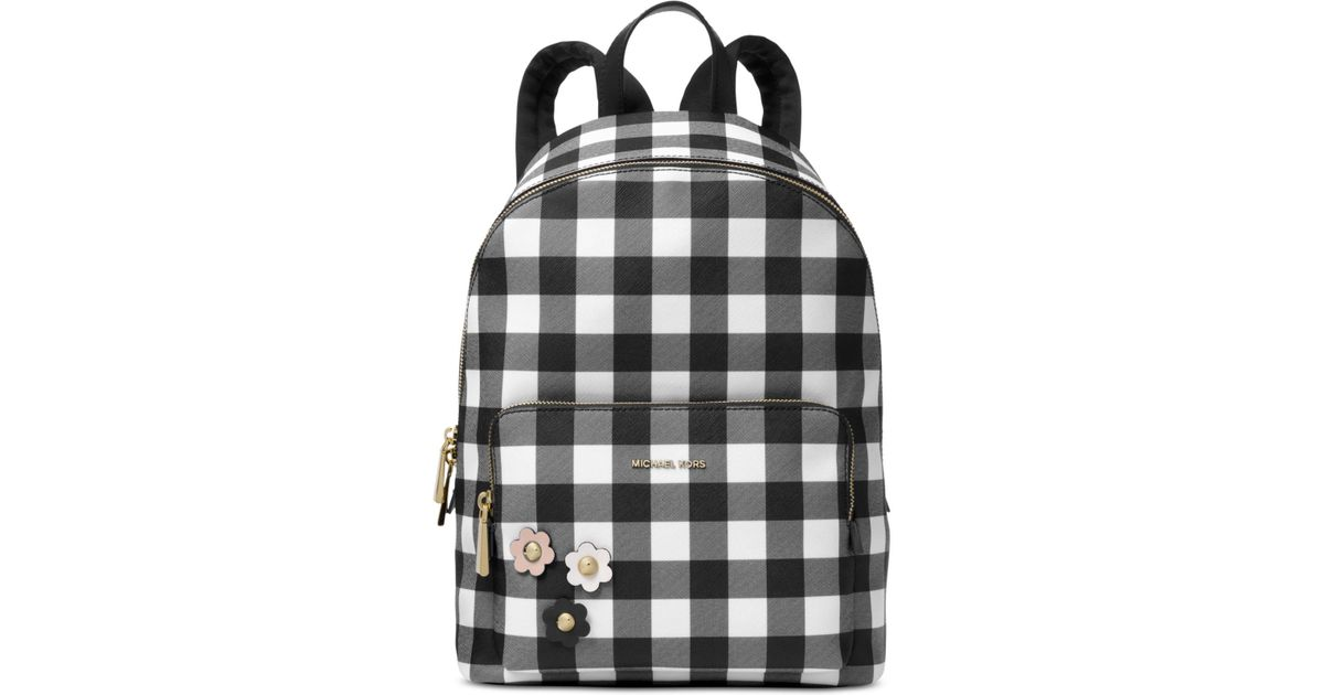da21e2ca9247dc Michael Kors Michael Gingham Large Backpack, A Macy's Exclusive Style in  Black - Lyst