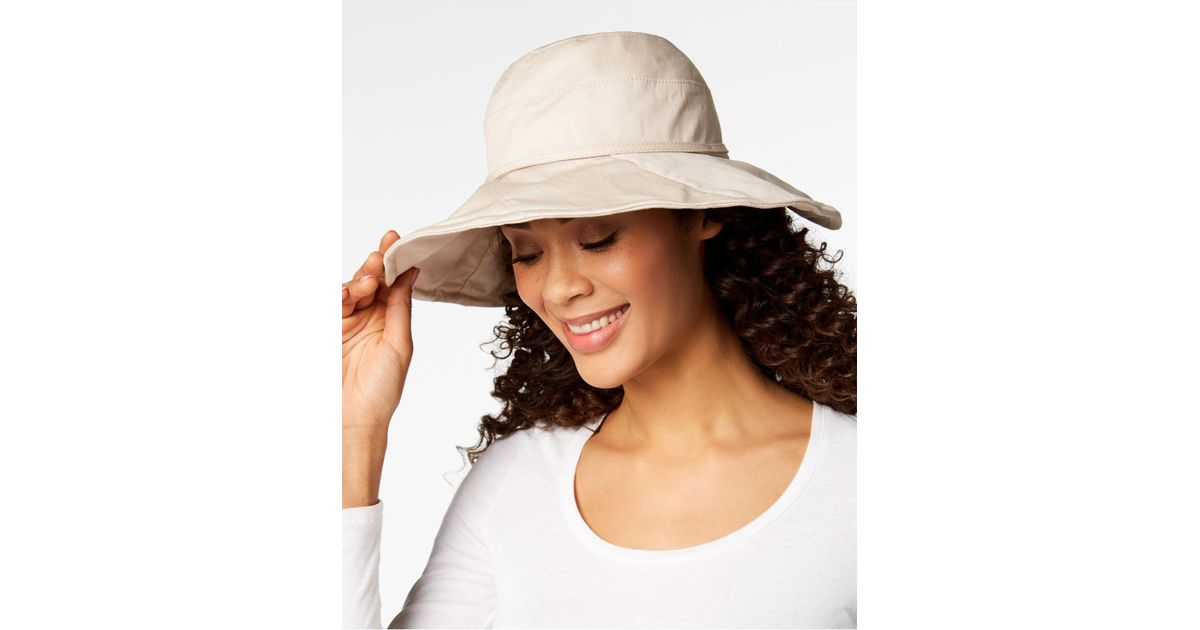 5187b34d0 INC International Concepts - Brown I.n.c. Solid Floppy Packable Hat,  Created For Macy's - Lyst