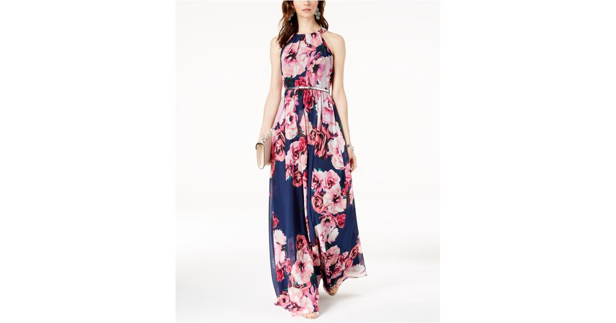 2cb890e6772 INC International Concepts I.n.c. Petite Belted Floral-print Maxi Dress