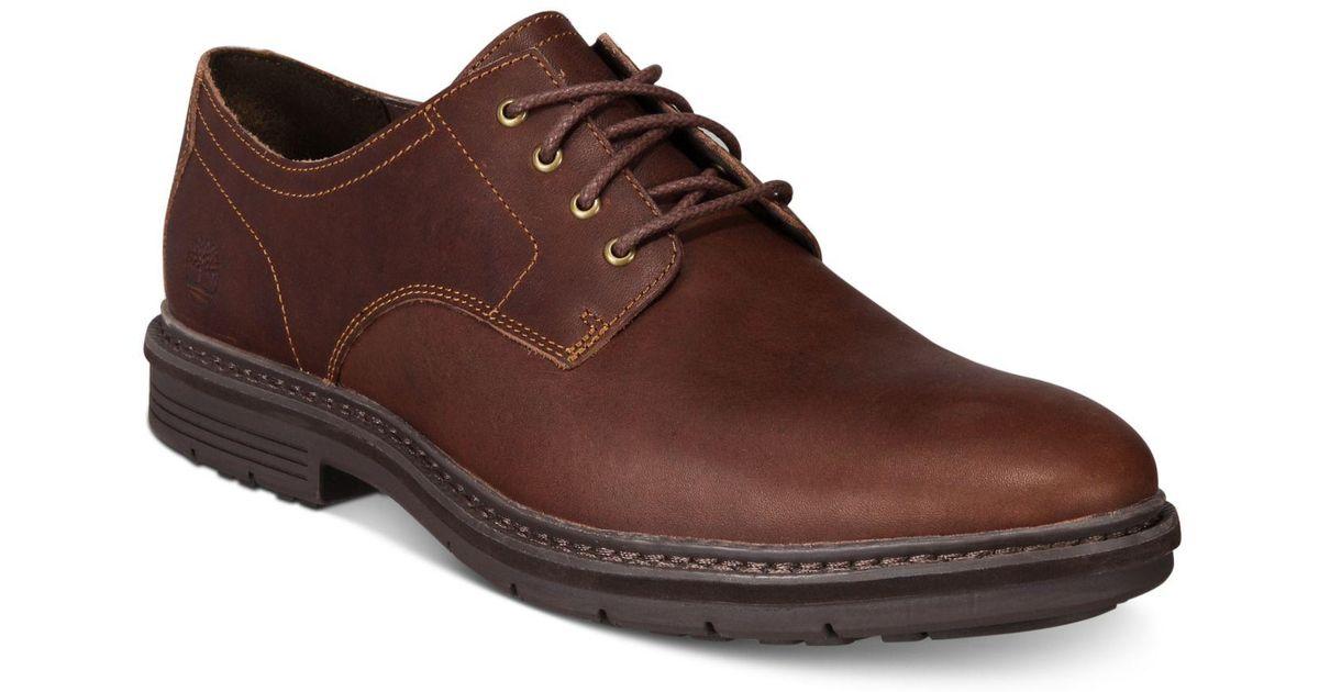 Lyst - Timberland Naples Trail Full-grain Leather Oxfords in Brown for Men 4dcda9e82c2