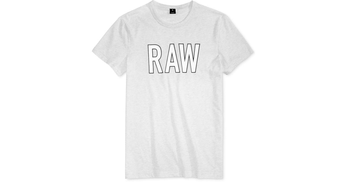 725373938b5f Lyst - G-Star RAW Men's Tomeo Graphic-print Logo T-shirt in White for Men