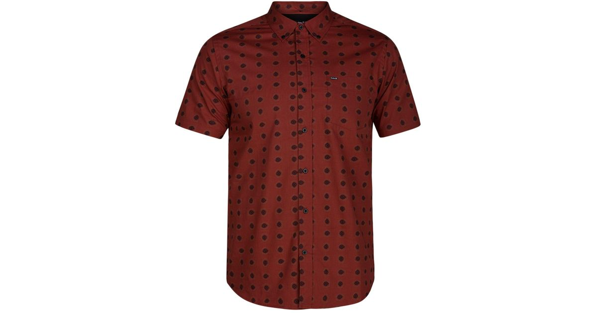 00d033e4 Hurley Red Beholder Printed Shirt for men