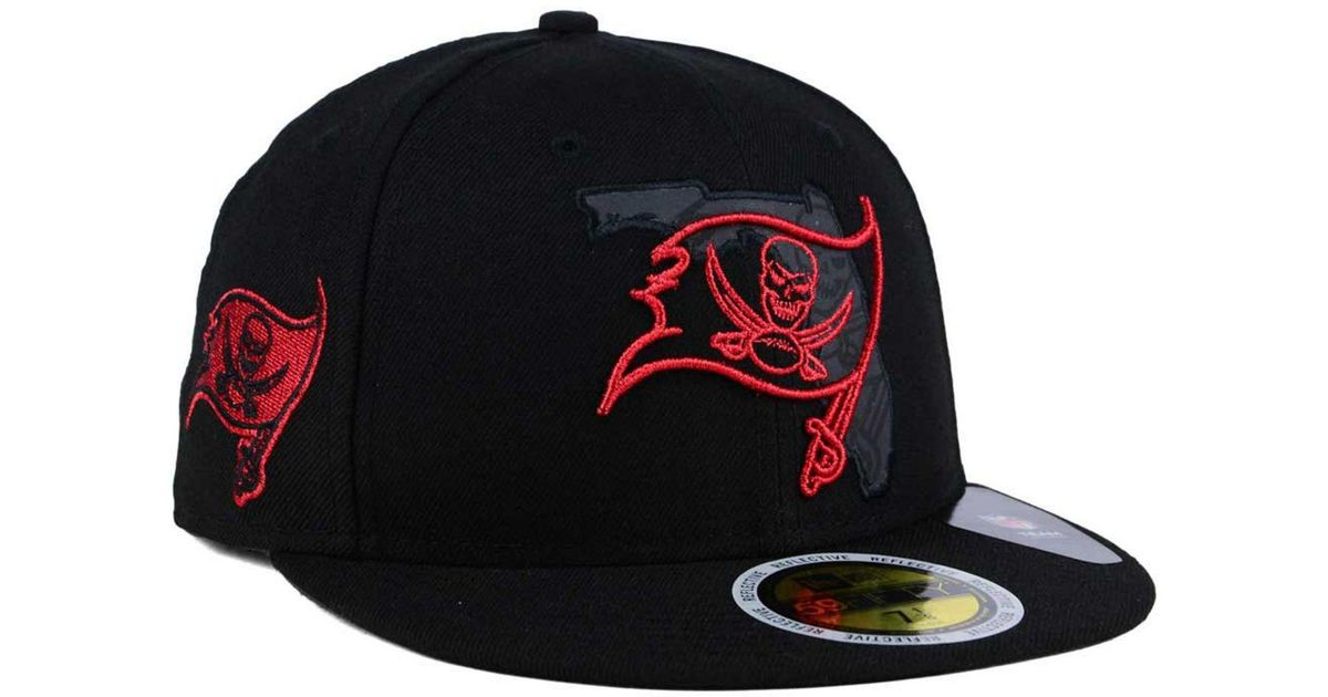 4946b645a0ed Lyst - KTZ Tampa Bay Buccaneers State Flective Metallic 59fifty Fitted Cap  in Black for Men