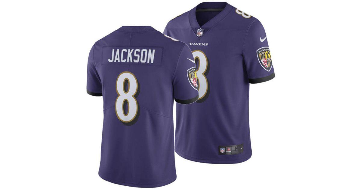 low priced 6c3af e20da Nike Purple Lamar Jackson Baltimore Ravens Limited Jersey for men