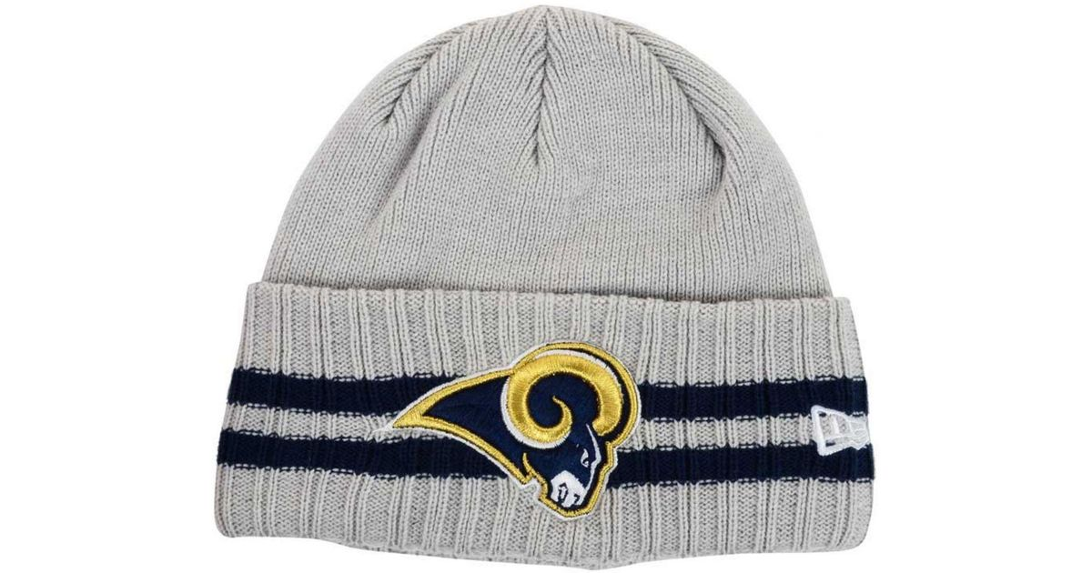 the latest e858f d0f63 Lyst - KTZ Los Angeles Rams Striped Cuff Knit Hat in Gray for Men
