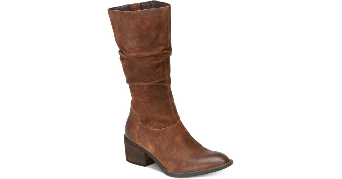 Born Suede Peavy Boots in Rust (Brown