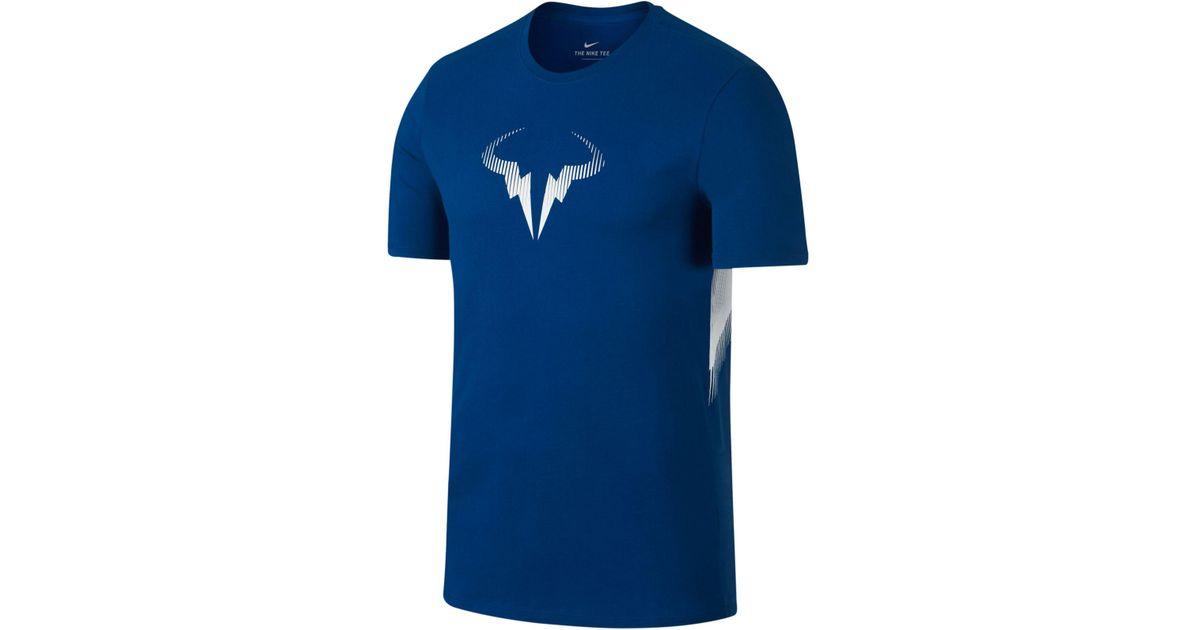 643773453 Nike Men's Rafael Nadal Logo T-shirt in Blue for Men - Lyst