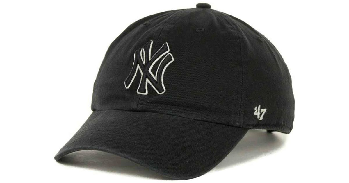 Lyst - 47 Brand New York Yankees Clean Up Hat in Black for Men 79d1b47acba