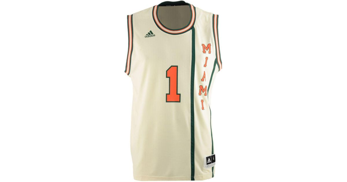 competitive price 7becc 1bfd4 Adidas Green Miami Hurricanes Hardwood Replica Basketball Jersey for men