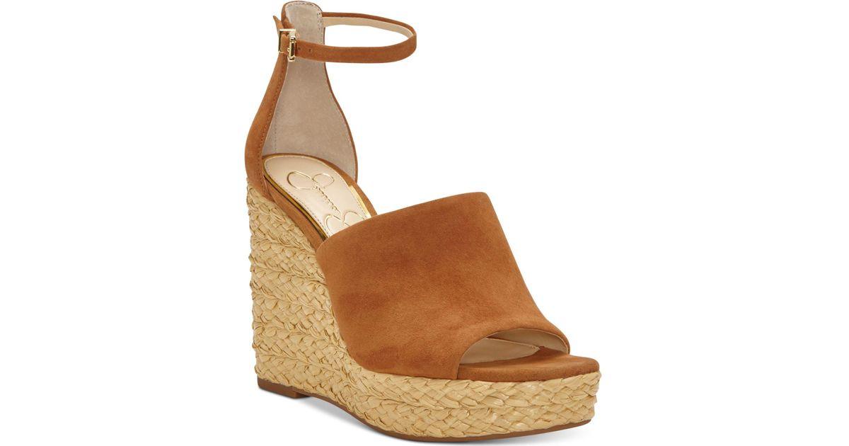 16239e5959f Jessica Simpson Brown Suella Espadrille Wedge Sandals