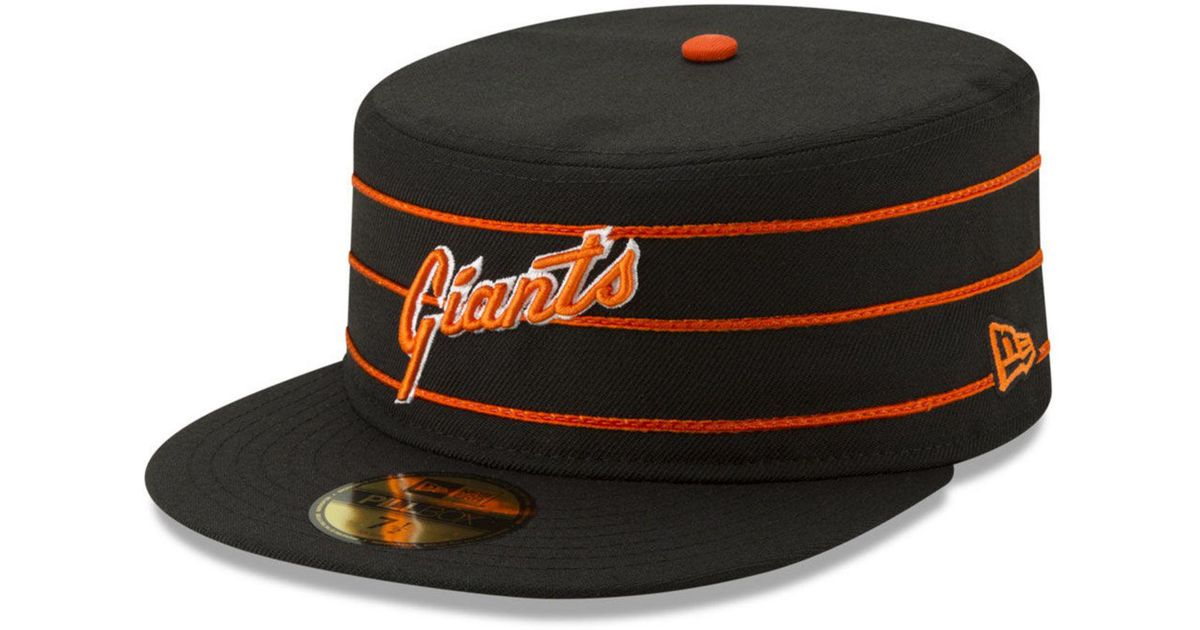 9ad42117 KTZ Black San Francisco Giants Pillbox 59fifty-fitted Cap for men