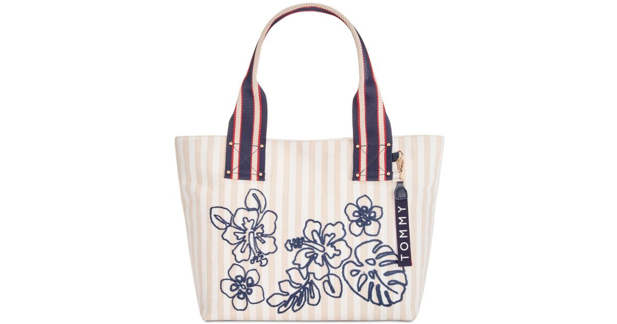 dc117824441 Tommy Hilfiger Classic Tommy Floral Tote, Created For Macy's - Lyst