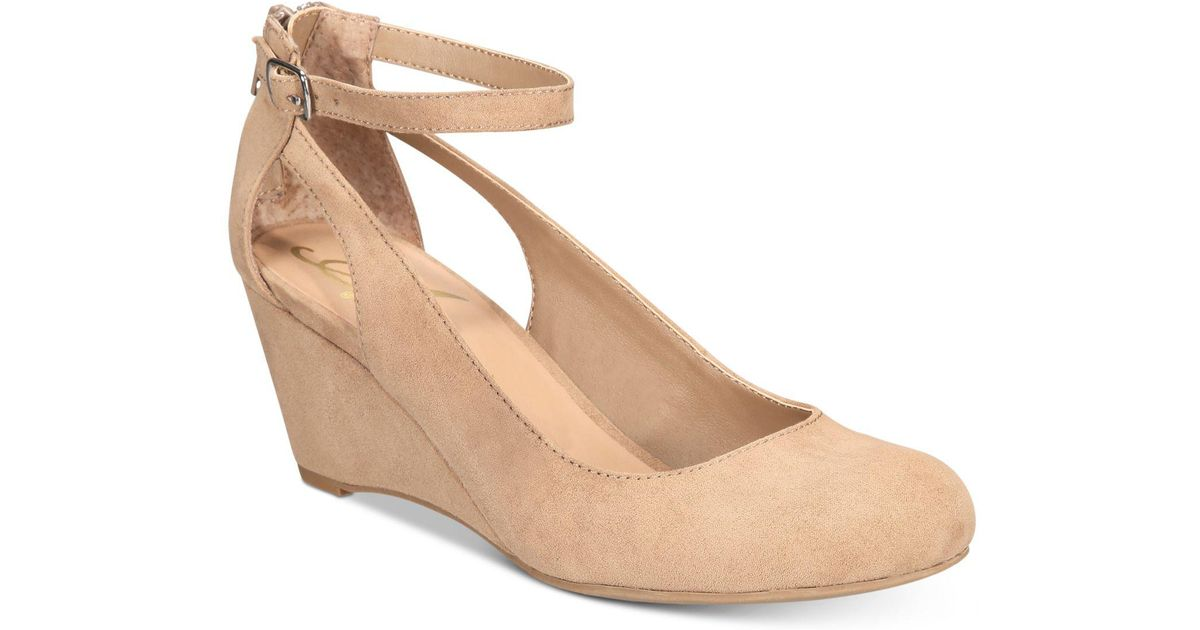 9b6772151f5 American Rag - Natural Miley Chop Out Wedges