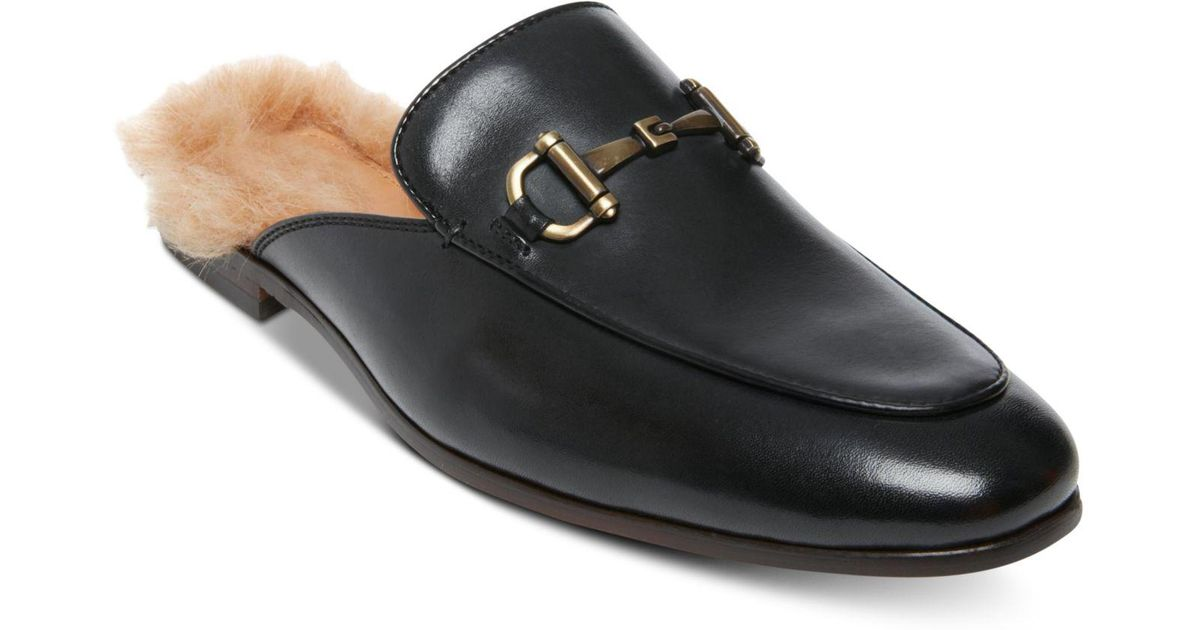 3a48aa3dc23 Lyst - Steve Madden Difranco Leather Bit Slip-ons in Black for Men