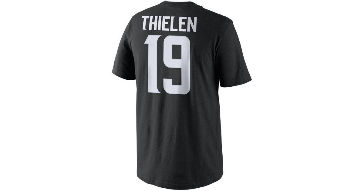 new product b52d7 f31c1 Nike Black Adam Thielen Minnesota Vikings Pride Name And Number T-shirt for  men