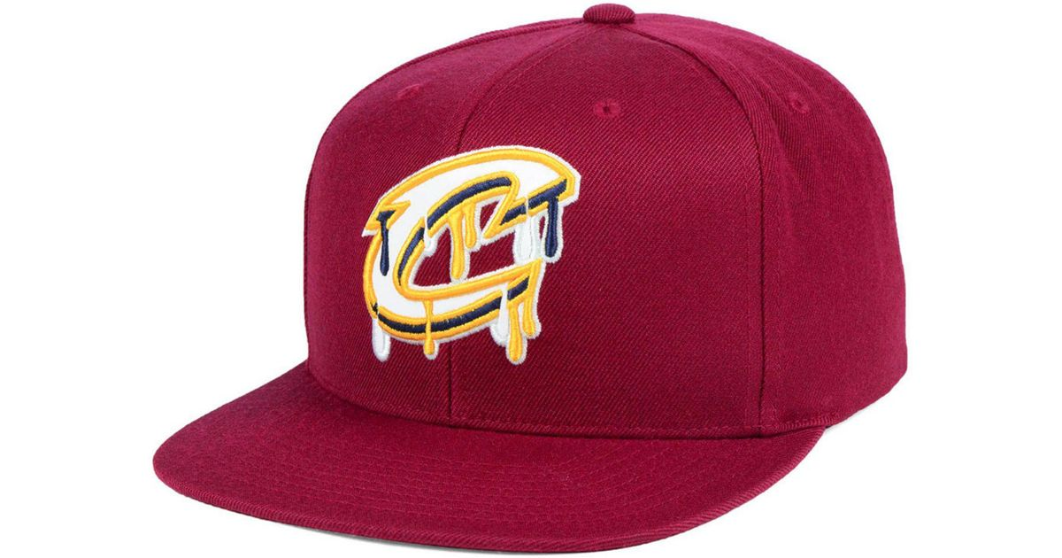 e4c1b028 Lyst - Mitchell & Ness Cleveland Cavaliers Dripped Snapback Cap in Purple  for Men