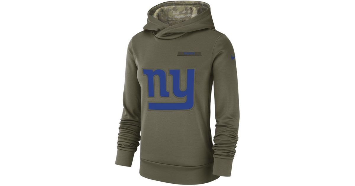 sports shoes 2bc12 c11f3 Nike Green New York Giants Salute To Service Therma Hoodie