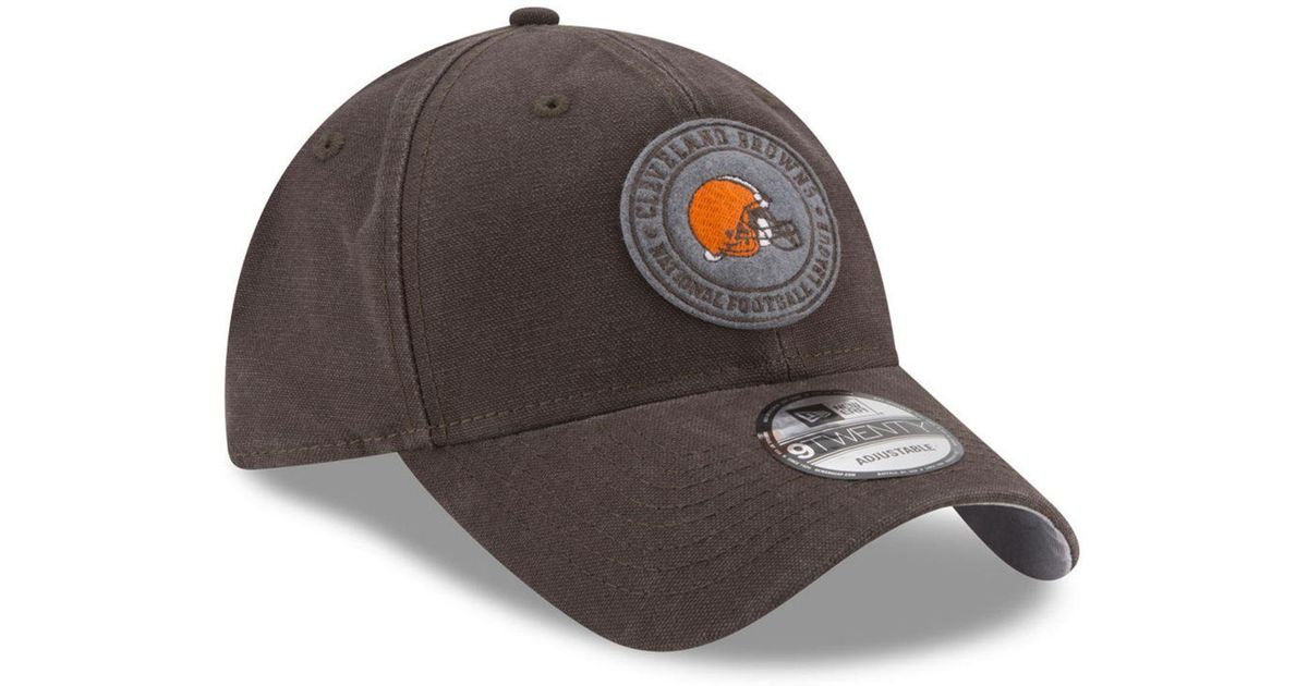 separation shoes 3f9c9 54e21 Lyst - KTZ Cleveland Browns The Varsity 9twenty Cap in Brown for Men