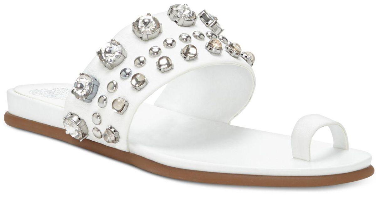 White jewel stud jelly sandals JOBX6Q8X