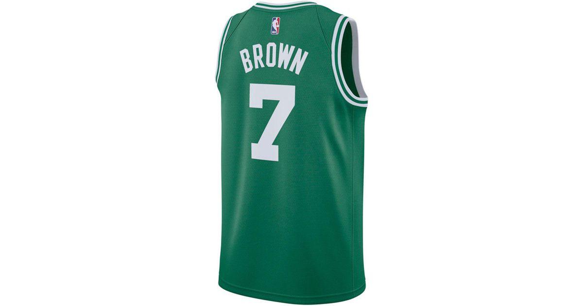quality design 0188c b630a Nike Green Jaylen Brown Boston Celtics Icon Swingman Jersey for men
