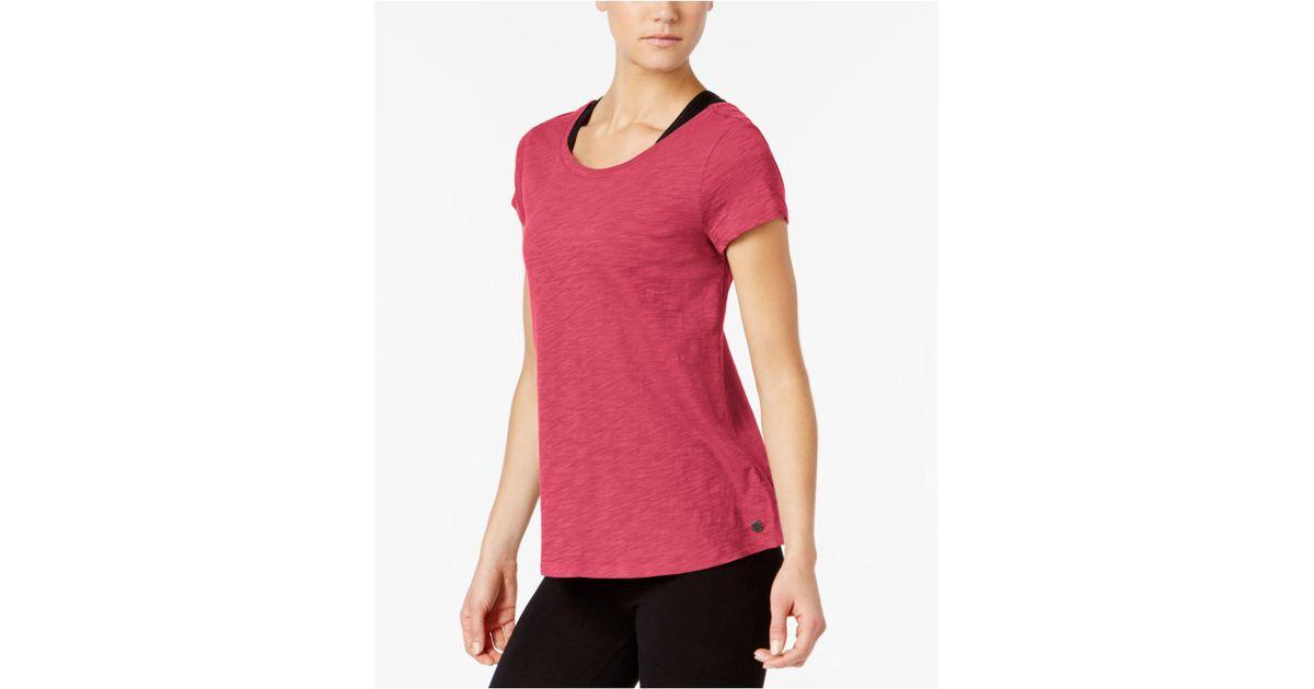 0a28295b Calvin Klein Crisscross-back Swing T-shirt in Pink - Lyst