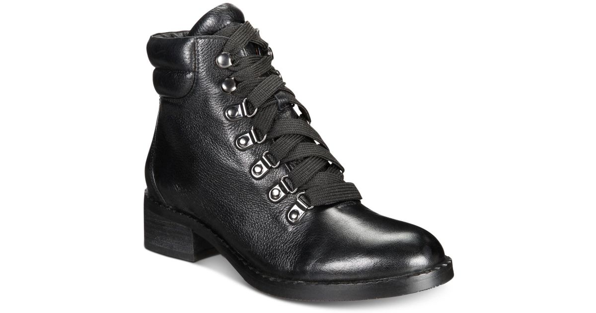 257dae4bbef7d5 Lyst - Gentle Souls Brooklyn Lace-up Booties in Black