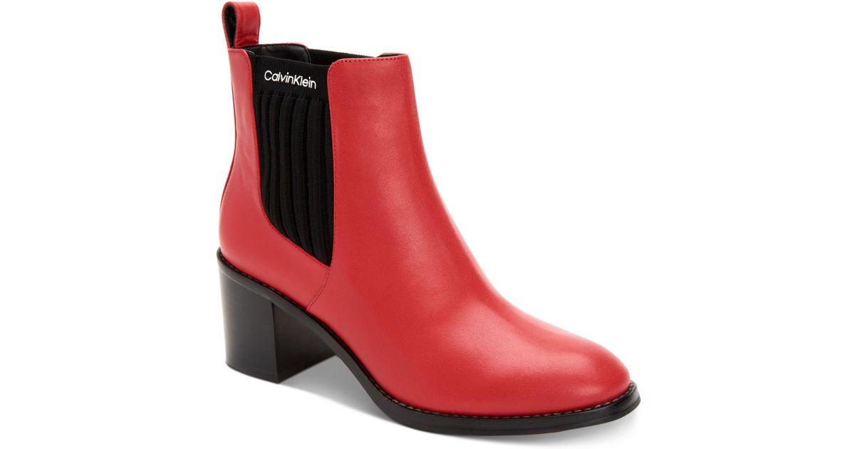 Calvin Klein Leather Perron Booties in