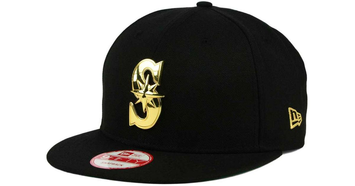 finest selection 2c832 79629 KTZ Seattle Mariners League O gold 9fifty Snapback Cap in Black for Men -  Lyst
