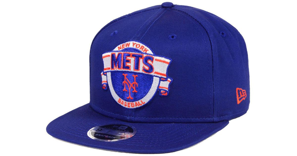 utterly stylish autumn shoes new high KTZ Cotton New York Mets Banner 9fifty Snapback Cap in Blue for ...