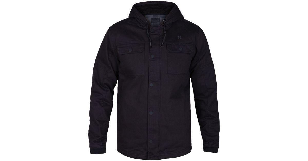 3c0bae925e0 Lyst - Hurley Men s Outdoor Hooded Jacket in Black for Men