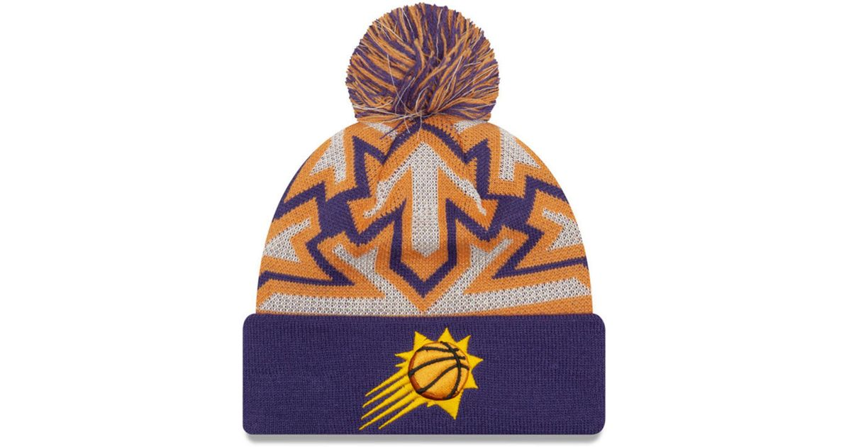 pretty nice f7c3e f720a KTZ Phoenix Suns Glowflake Cuff Knit Hat in Purple for Men - Lyst