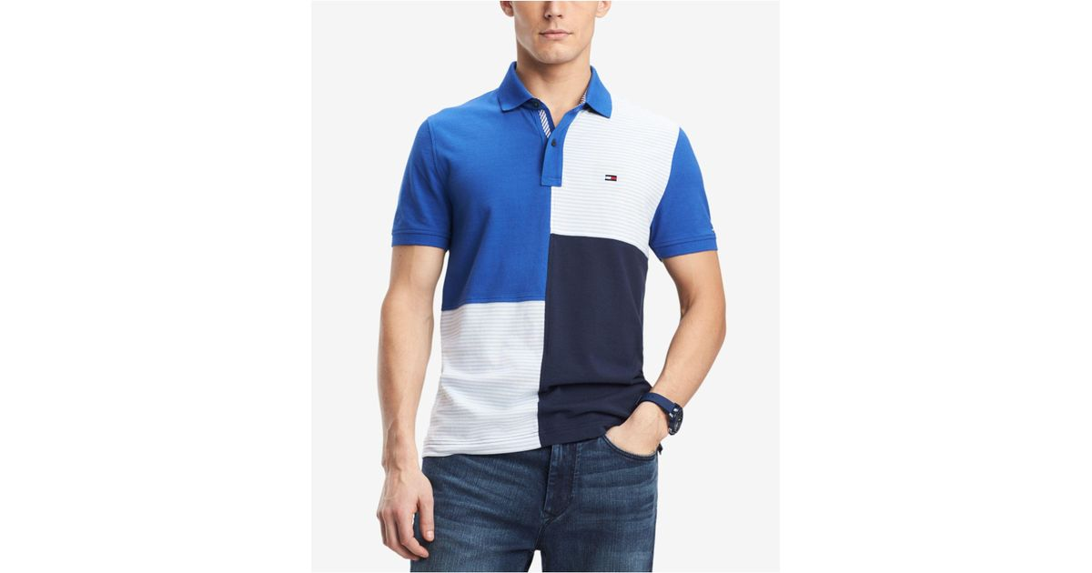 87cac772 Tommy Hilfiger Stevans Custom Fit Polo in Blue for Men - Lyst